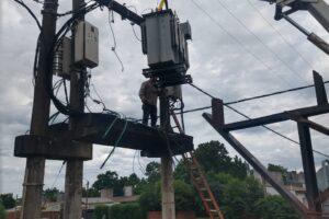 Energía de Misiones realizó trabajos en San Ignacio y Roca