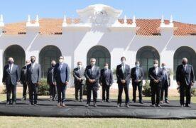 25-02-2021 Corrientes : El presidente Alberto Fernández encabeza en Yapeyú el acto en conmemoración del 243˚ aniversario del nacimiento del General San Martín. Foto: Presidencia