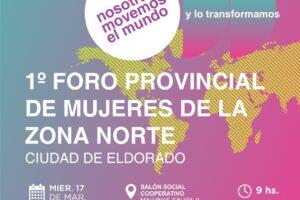 """Este miércoles se realizará el """"1º Foro Provincial de Mujeres de la Zona Norte"""""""