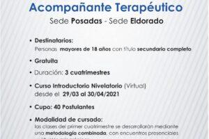 Abierta la inscripción para Acompañante Terapéutico en el IMES