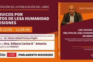 Presentarán publicación sobre los juicios por delitos de lesa humanidad en Misiones