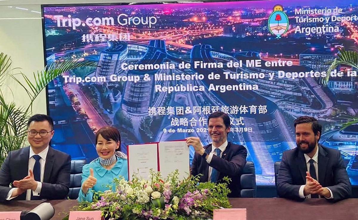 Argentina firmó un Memorando de Entendimiento con la plataforma de turismo  más importante de China   Economis