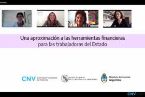 Se presentó el curso sobre herramientas financieras con perspectiva de género para las trabajadoras y trabajadores del Estado