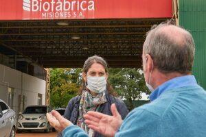 La subsecretaria de Biotecnología visitó Biofábrica
