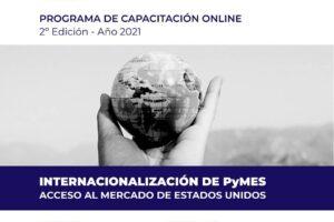 """Capacitación online: """"Internacionalización de pymes, acceso al mercado de Estados Unidos"""""""